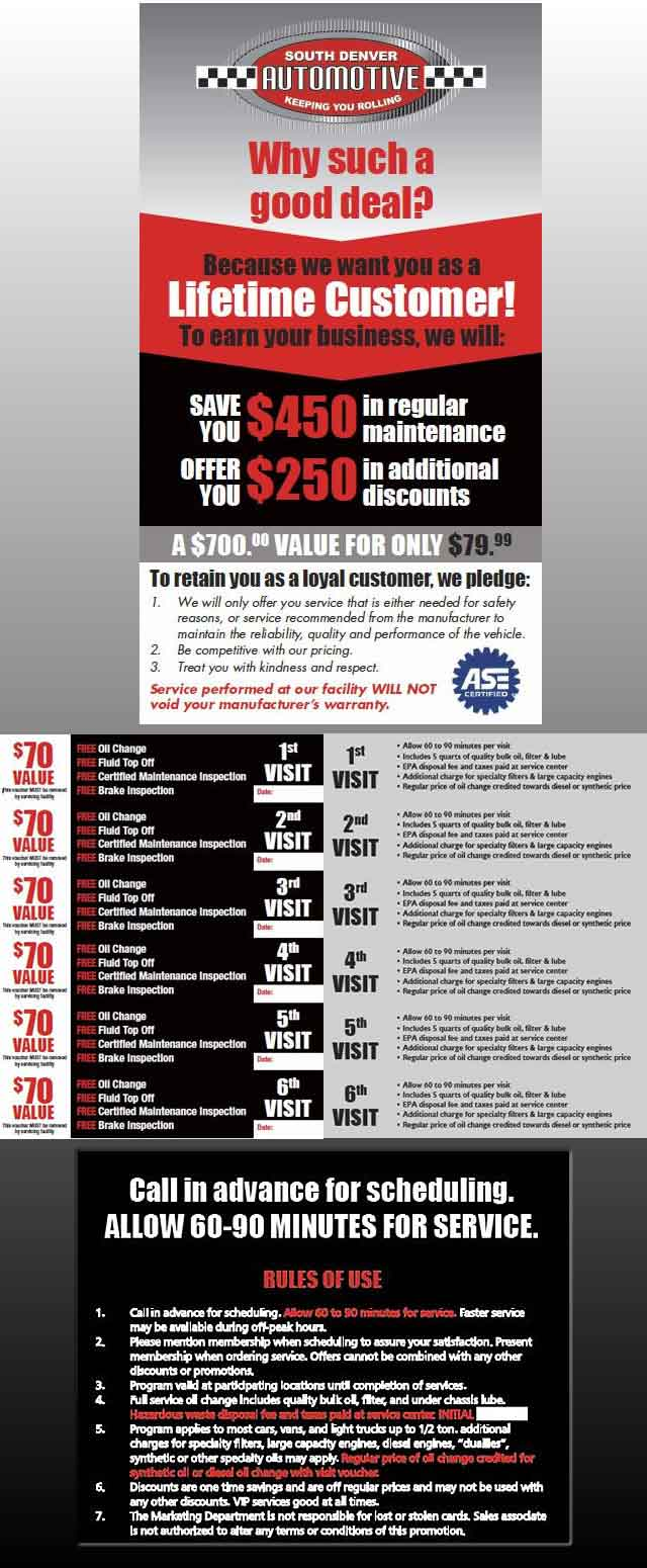Customer Loyalty Program | South Denver Automotive